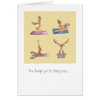 Tarjeta de la yoga de Rudolph