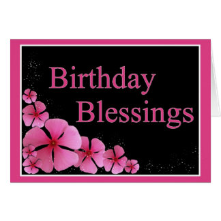 Tarjeta de las bendiciones del cumpleaños
