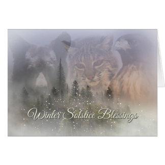 Tarjeta de las bendiciones del solsticio de