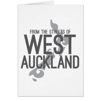 Tarjeta De las calles de Auckland del oeste