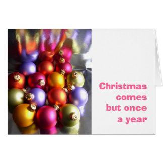 Tarjeta de las chucherías del navidad