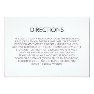 Tarjeta de las direcciones del boda del corazón invitación 8,9 x 12,7 cm