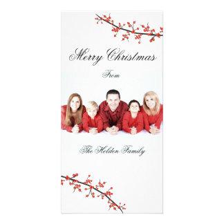 Tarjeta de las Felices Navidad de la baya del