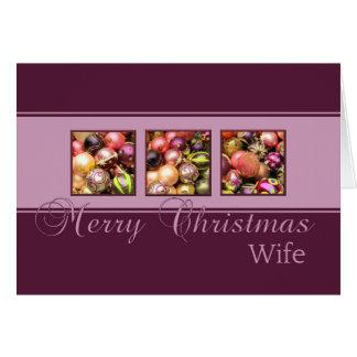 Tarjeta   de las Felices Navidad de la esposa