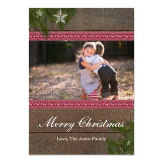 Tarjeta de las Felices Navidad de la estrella de
