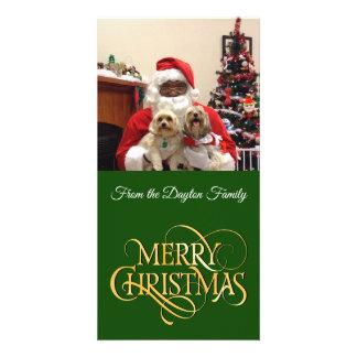 Tarjeta de las Felices Navidad de la foto