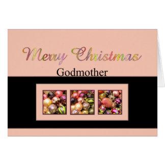 tarjeta de las Felices Navidad de la madrina