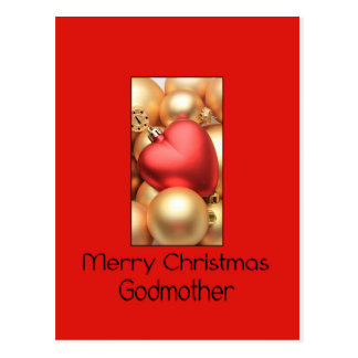 tarjeta de las Felices Navidad de la madrina Postal