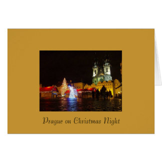 Tarjeta de las Felices Navidad de la noche de