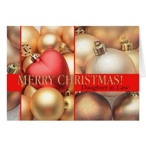Tarjeta de las Felices Navidad de la nuera