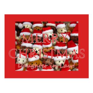 Tarjeta de las Felices Navidad de la nuera Postal