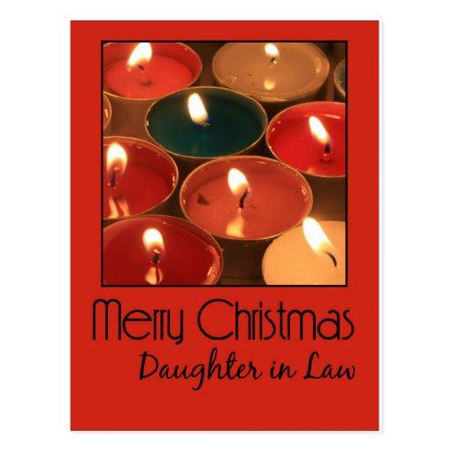 Tarjeta de las Felices Navidad de la nuera Tarjeta Postal