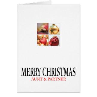 tarjeta de las Felices Navidad de la tía y del