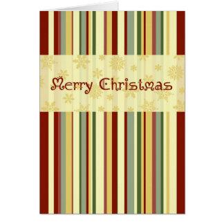 Tarjeta de las Felices Navidad de las rayas