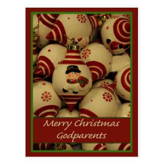 Tarjeta de las Felices Navidad de los Godparents Postal