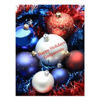 Tarjeta de las Felices Navidad de los Godparents Postales