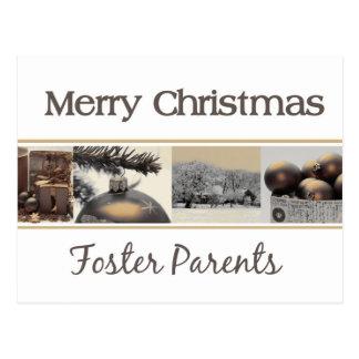 tarjeta de las Felices Navidad de los padres Postal