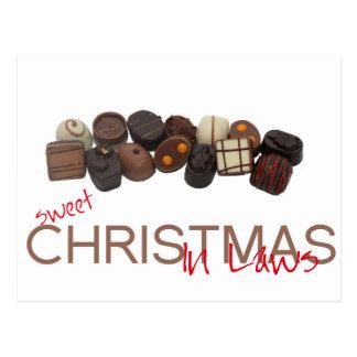 tarjeta de las Felices Navidad de los suegros Postal