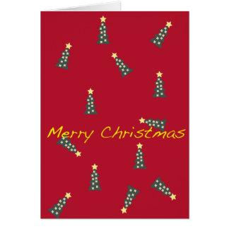 tarjeta de las Felices Navidad del dibujo animado
