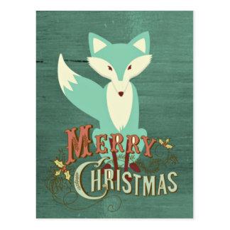 Tarjeta de las Felices Navidad del Fox del trullo