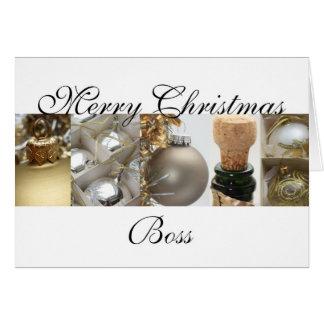 tarjeta de las Felices Navidad del jefe
