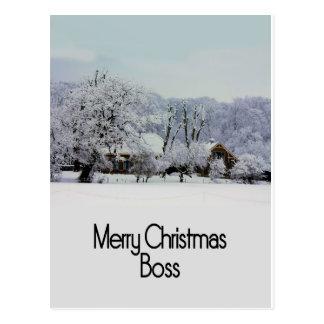 tarjeta de las Felices Navidad del jefe Postal
