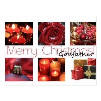 Tarjeta de las Felices Navidad del padrino
