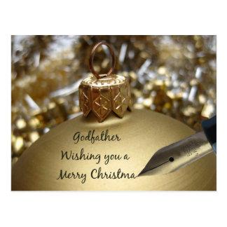 Tarjeta de las Felices Navidad del padrino Postal