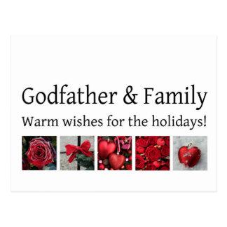 Tarjeta de las Felices Navidad del padrino y de la Tarjeta Postal