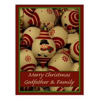 Tarjeta de las Felices Navidad del padrino y de la Postal