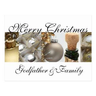 Tarjeta de las Felices Navidad del padrino y de la Tarjetas Postales