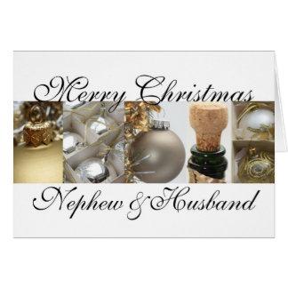 tarjeta de las Felices Navidad del sobrino y del
