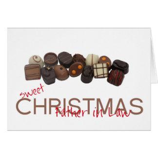tarjeta de las Felices Navidad del suegro