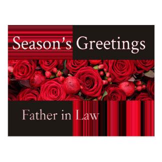 tarjeta de las Felices Navidad del suegro Postal