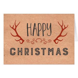 Tarjeta de las felices Navidad del vintage de las