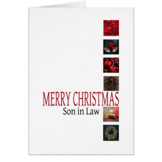 tarjeta de las Felices Navidad del yerno