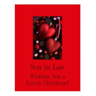 tarjeta de las Felices Navidad del yerno Postales