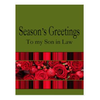 tarjeta de las Felices Navidad del yerno Tarjetas Postales