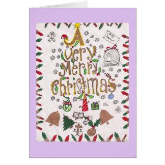 Tarjeta de las Felices Navidad muy