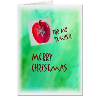 Tarjeta de las Felices Navidad para el profesor