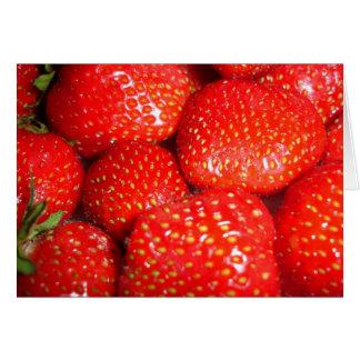Tarjeta de las fresas