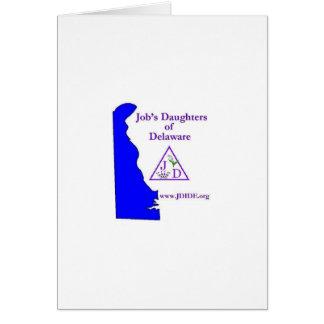 Tarjeta de las hijas del trabajo de Delaware