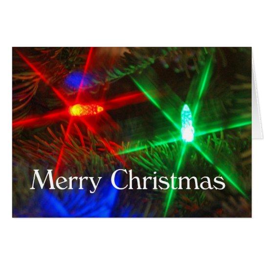 Tarjeta de las luces de las Felices Navidad