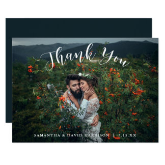 Tarjeta De las montañas los | que se casan le agradecen