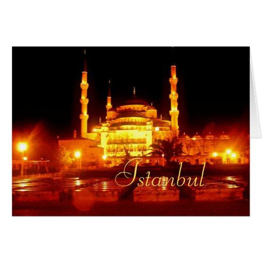 Tarjeta de las noches de Estambul
