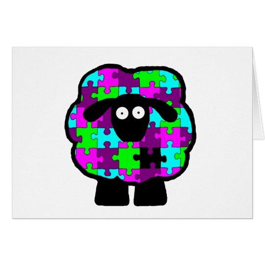 Tarjeta de las ovejas de la conciencia del autismo