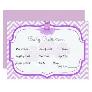 Tarjeta de las predicciones del bebé del ballet invitación 12,7 x 17,8 cm