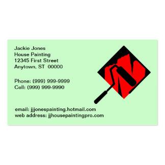 Tarjeta de las tarjetas de visita de los pintores