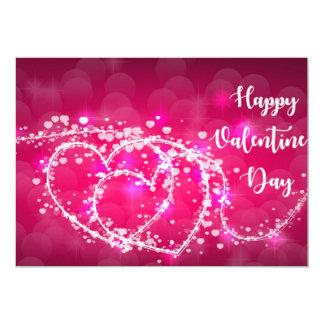 Tarjeta de las tarjetas del día de San Valentín Invitación 12,7 X 17,8 Cm