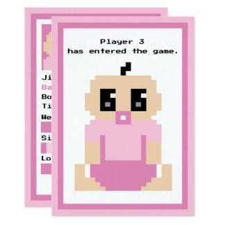 Tarjeta de llegada entrada de la niña del juego invitación 12,7 x 17,8 cm